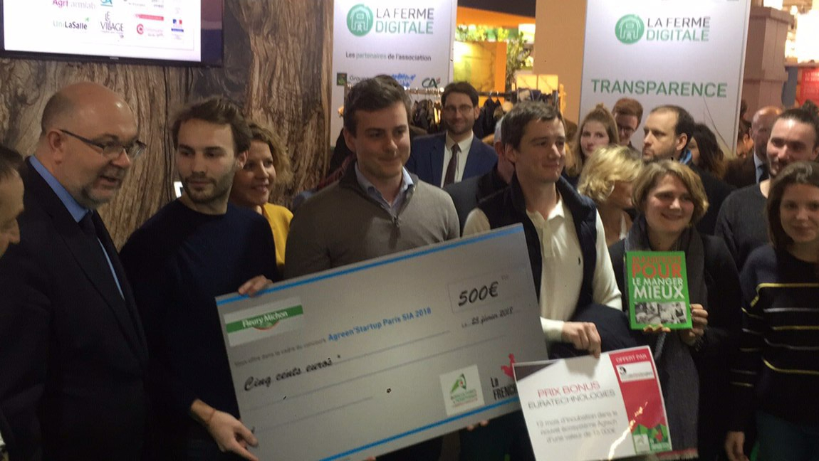 Hugo Laudren wins Jury Prize at the Agreen Startup contest