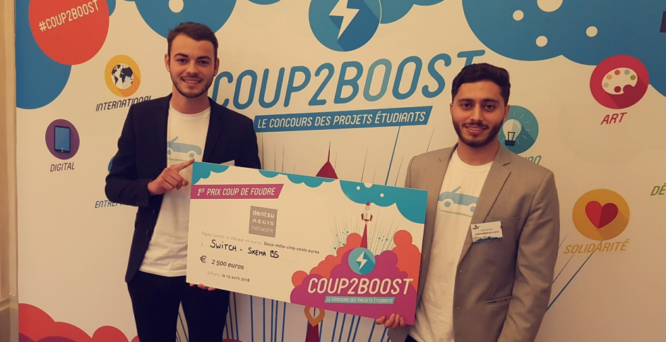 "Sydney and Sami: laureates of the COUP2BOOST Contest with their project ""SWITCH"""
