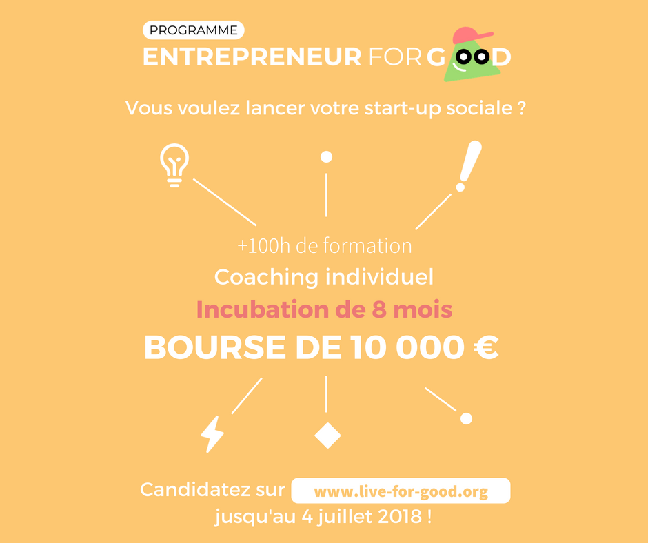 Entrepreneur for Good program-Live for Good