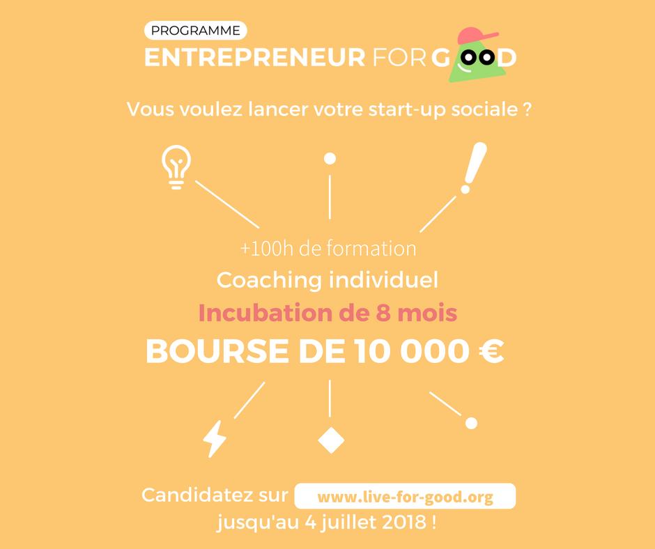 Last few days to apply for the Entrepreneur for Good program