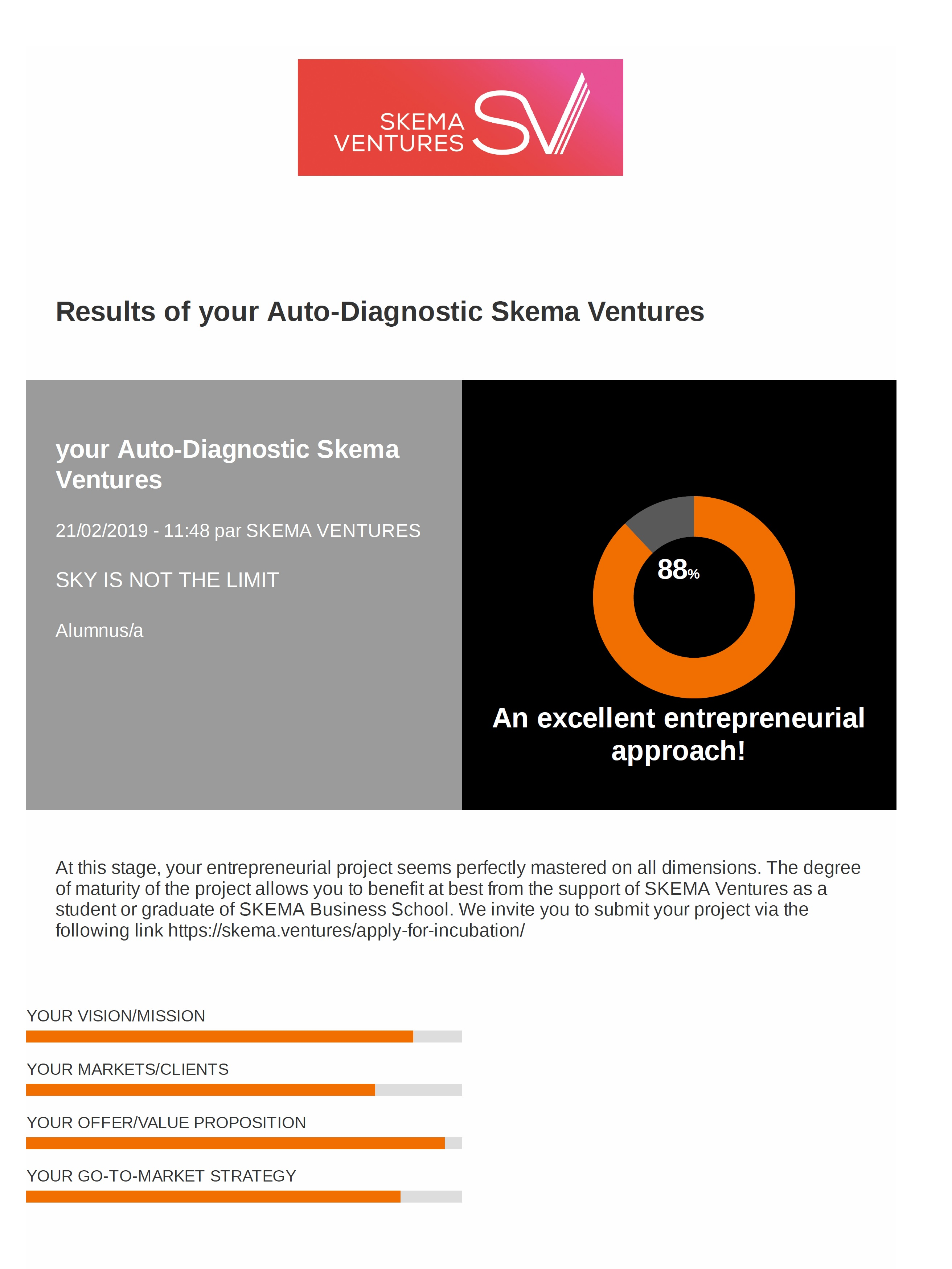 SKEMA Ventures Auto-diagnostic Tool