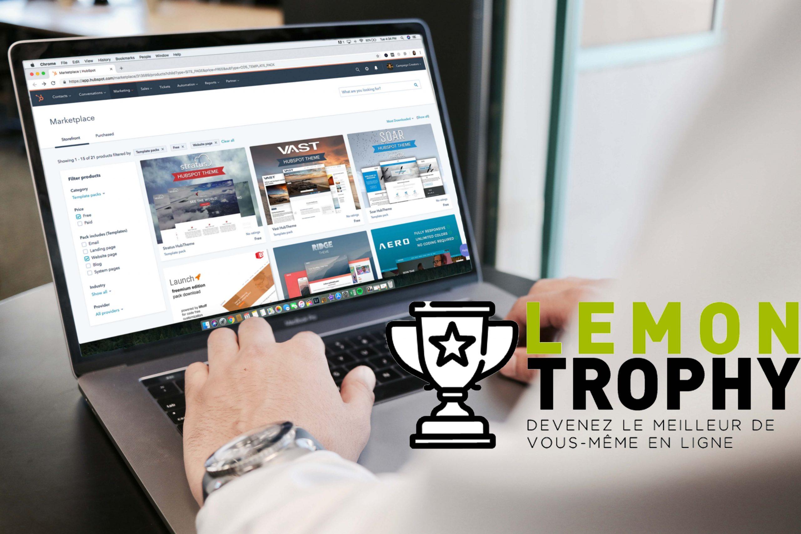 Lemon Trophy: Strengthen your startup's online presence