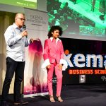Cannelle Danzelle at the SKEMA Ventures Awards ceremony