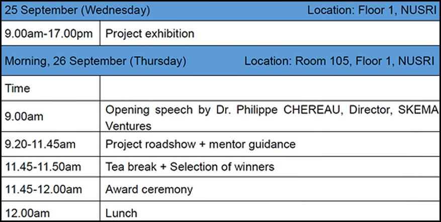 SKEMA Ventures Startup Kafe Suzhou schedule