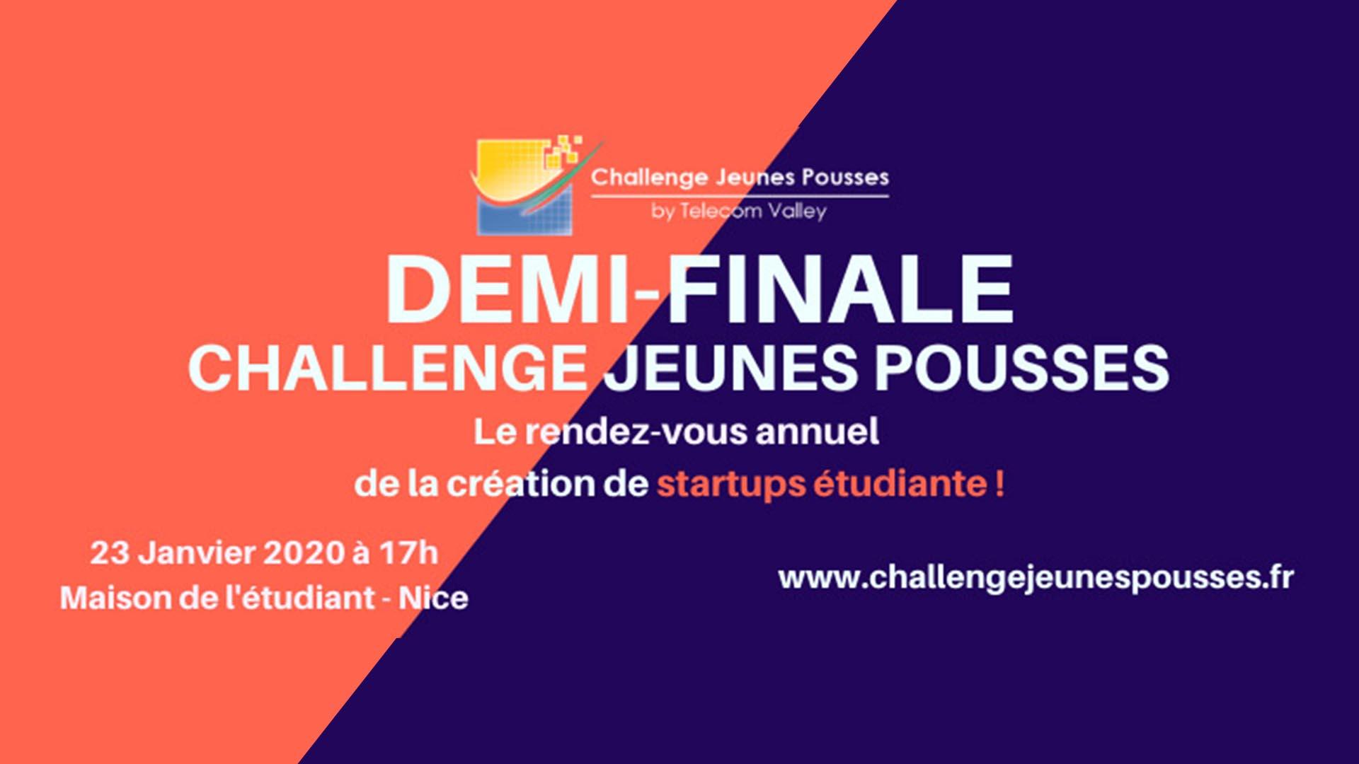Participate in Challenge Jeunes Pousses 2020 contest