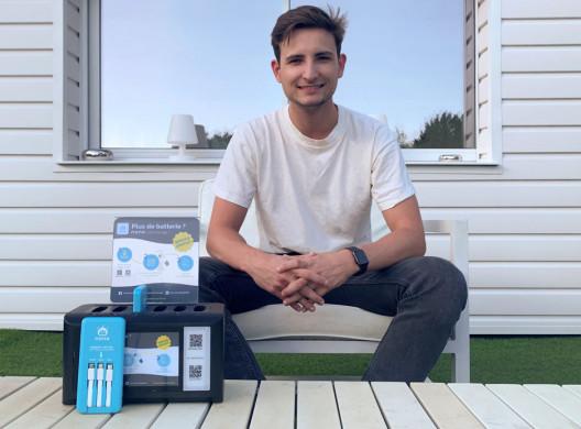 Théo Rouilly: il lance Nono, le Vélib de la batterie portable pour smartphone!