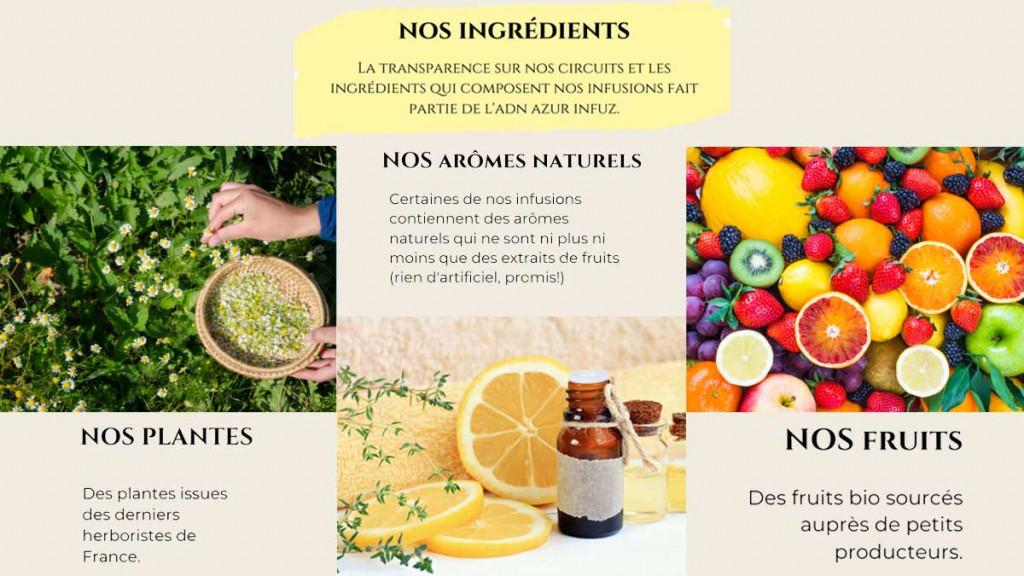 Azur Infuz ingredients